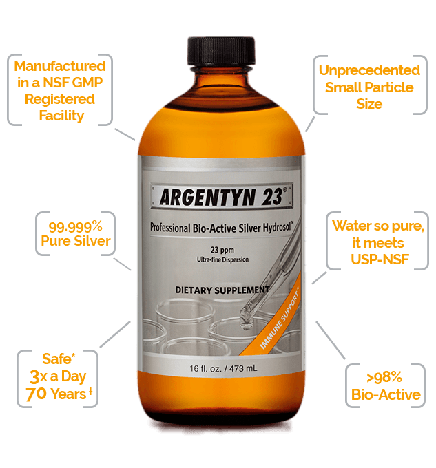bottle of Argentyn 23 Bio-Active Silver Hydrosol